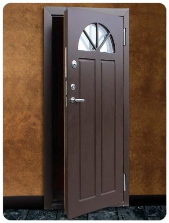 metāla durvis ar stiklu